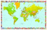 Fototapeta 655 Map of the World GIANT ARTv