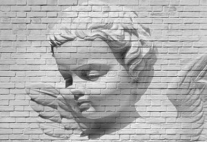 Fototapeta 00160 Angel Brick Wall